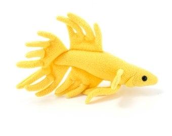 Blue betta fish stuffed animal plush toy veil tail by for Betta fish toys