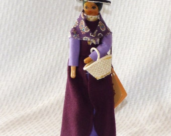 CLEARANCE!!!  COUPON CODE: CLRNCE35 Vintage Cillacraft Hand Crafted Welsh Wood Doll