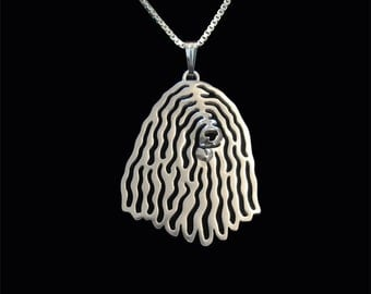 Komondor - sterling silver pendant and necklace.
