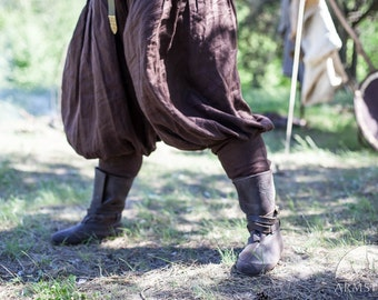 DISCOUNTED PRICE! In Stock! Ready to Ship! Fixed Sizes! Linen Viking Pants; Men's Viking Pants; Linen Pants; Medieval Pants