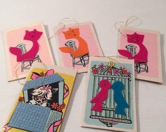 Vintage 60's Animal Gift Tags