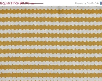 CLEARANCE Beaded Stripe in Mustard from Tiny Dancers by Melimba for Kokka