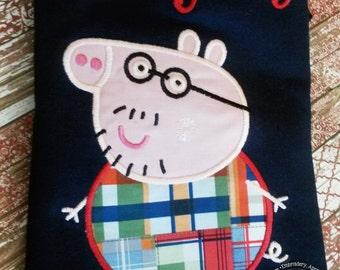 Peppa Pig Daddy Pig Family Birthday Custom Tee Shirt - Customizable -  Infant to Adults 125