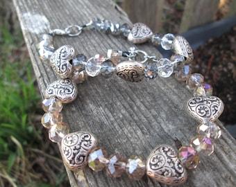 Crystal Heart Bracelets