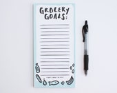 Market Notepad- Market List- Grocery Goals