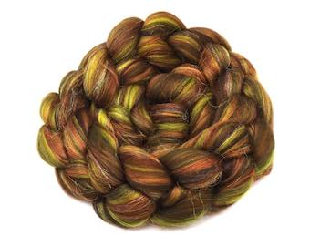 Blended tops - Merino wool, firestar, bamboo - brown - green - 100g - 3.5oz - NYMPH