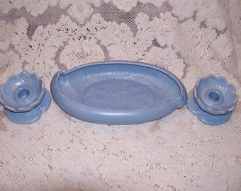 Haeger Pottery 3 piece Console Set
