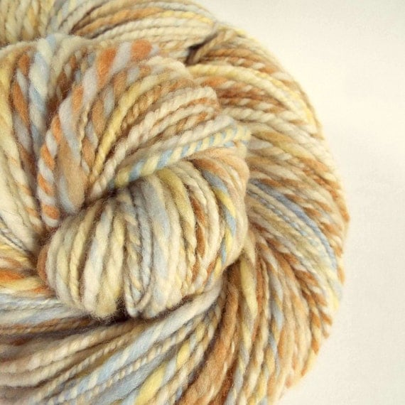 Knitting Handspun Wool : Chunky handspun merino yarn bulky knitting