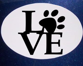 Love My Pets Car Magnet, Oval Car Magnet, Rescue Pet, Pet Magnet, Dog Magnet, Heart Magnet, Paw Magnet, Cat Magnet