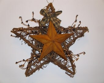8 x 8  x4 prmitive star with black and tan pips