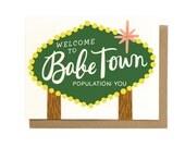 Babe Town Card
