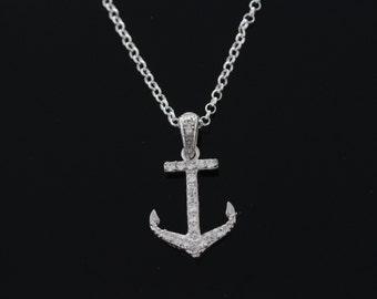 925 Sterling silver Anchor Necklace, Silver Anchor Jewelry, Anchor on a sterling silver rollo chain of choiceAnchor pendant CHARM 205