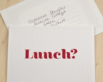 Invitation Card - Let's Do Lunch Card