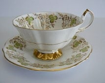 Tea Cup And Saucer Queen Anne Bone China #320