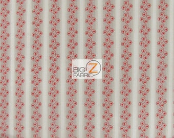 "100% Cotton Fabric By Sue Daley Designs For Riley Blake - French Courtyard Dot Pattern - 45"" Width Sold By The Yard (FH-1462)"