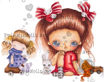 INSTANT DOWNLOAD Digital Digi Stamps..by Chrishanthi's art,Come with me''