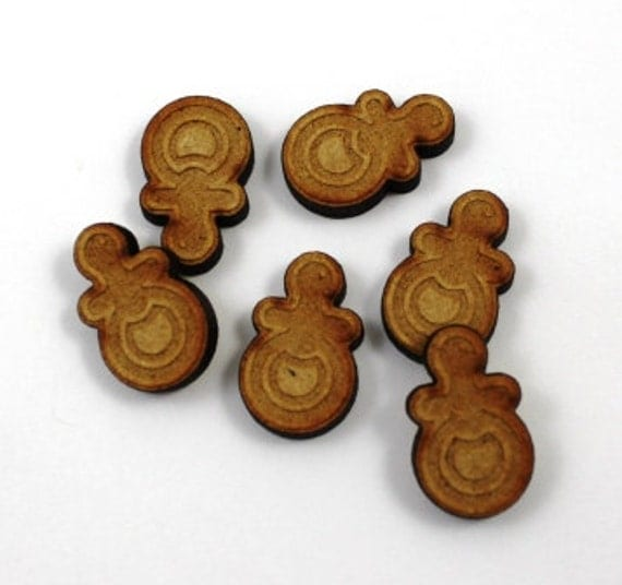 Laser Cut Supplies-6 Pieces.Baby Dummy Charms-Laser Cut Wood Baby Shapes-Jewelry Supplies-Little Laser Lab.Online Laser Cutting Australia