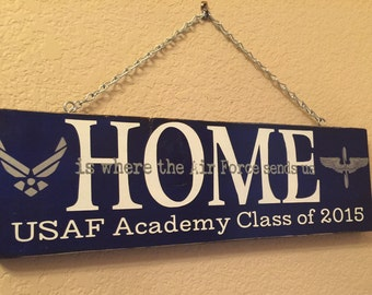 Home is where the air force sends us, USAF Academy sign