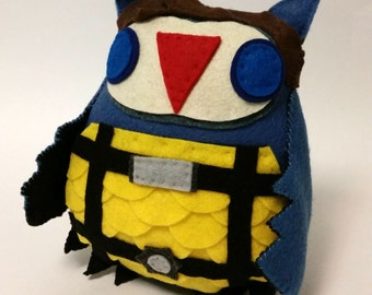 X-Men First Class Charles Xavier Inspired Plush Owl