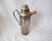 Vintage distressed cocktail shaker, martini mixer, distressed barware, bar prop