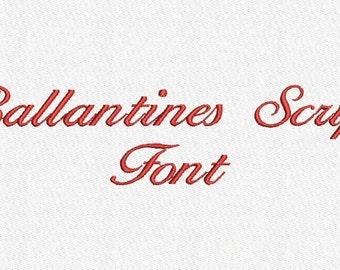 Ballantines Script Embroidery Font