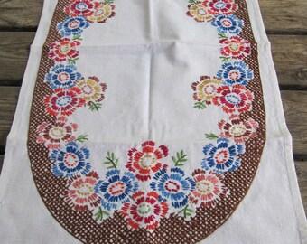 Swedish hand embroidered runner 1960s