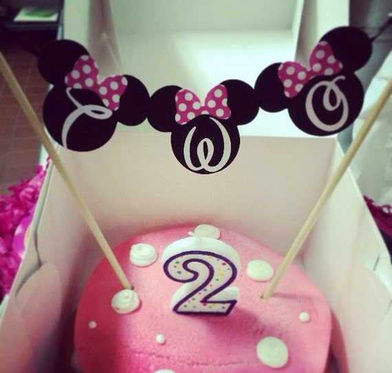 Items Similar To Minnie Mouse Cake Topper On Etsy