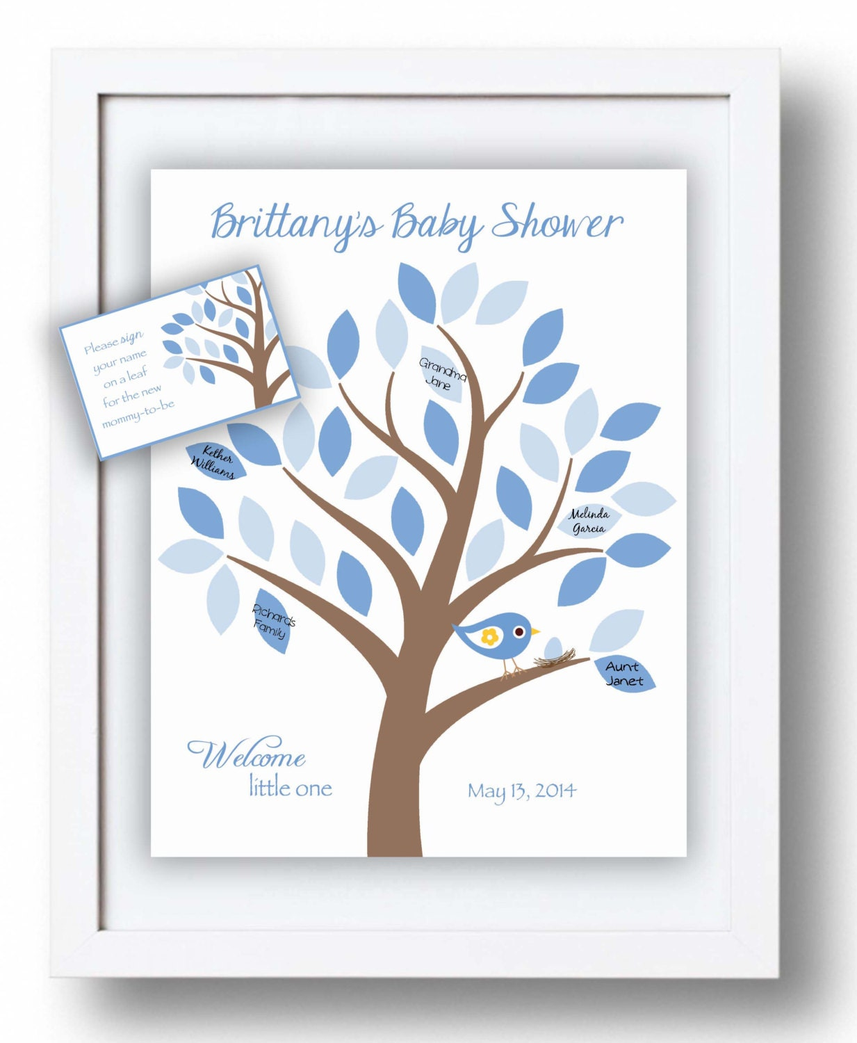 Baby Shower Guest 8x10 Sign-In Tree Print Baby Shower Guest
