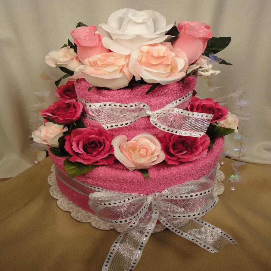 Wedding Shower Towel Cake Centerpiece 374 Best Images About Towel ...