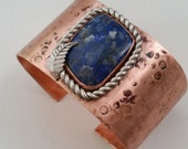 Large Lapis Lazuli copper cuff
