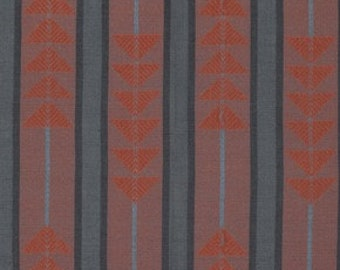 Traffic by Anna Maria Horner - 1/2 Yard Loominous - Triangle Print Fabric - Quilt Fabric - Apparel Fabric Black and Rust Red