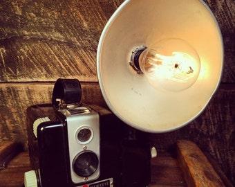 Kodak Brownie Hawkeye Lamp by Stonehill Design - Repurposed Upcycled Decorative Lighting