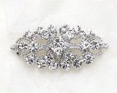 Wedding Brooch,Crystal brooch,Vintage clasp,wedding dress rhinestone crystal clasp closure,crystal clasp,sash clasp closure button