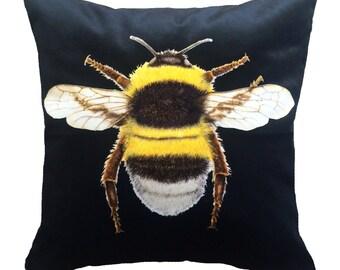Velvet Bee Cushion