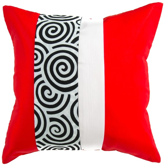 avarada 16x16 striped spiral throw pillow cover