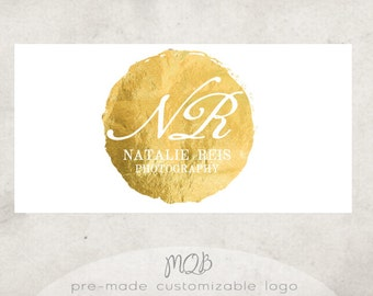 Premade Boutique Photography Logo & Watermark - Signature in Gold