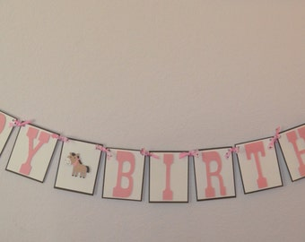Cowgirl Birthday Banner, Girl Birthday, Party Decor, Birthday Girl or Boy, Cowgirl, Birthday  Banner, Western Theme Party, Western Party