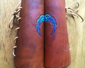 DISCOUNTED** Celtic Moon Leather Bracers