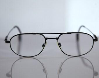 Vintage BOGNER eyewear,  Black Titan Flex Frame,  Clear  Lenses RX Prescription . Rare Piece.