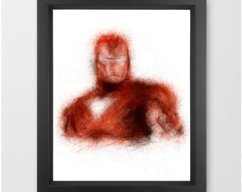 Iron Man INSTANT DOWNLOAD, Marvel comics, movie character art, comic art, geeky gifts - Digital art