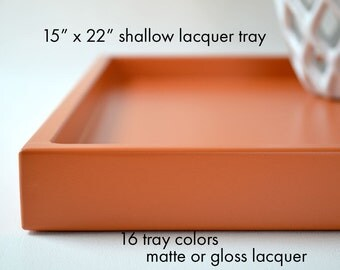 Entryway Table Catchall, Large Ottoman Tray Rectangle, Modern Coffee Table Tray, Bar Cart Tray, 15 x 22 Bed Tray Table, Ottoman Tray Decor