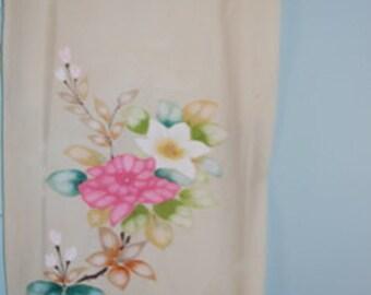 Hand painted kimono silk
