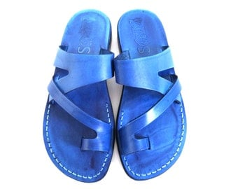 Leather Sandals, Mens sandals, Mens leather sandals, Men sandals, JERICHO, Jesus Sandals, Flip Flops