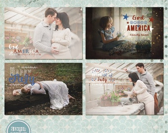 4th of July Photo Overlays - Photoshop Overlays - INSTANT DOWNLOAD
