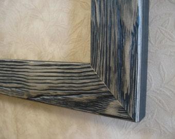 8 x 10 handmade wood picture frame black rustic barn wood style