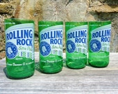 Rolling Rock Beer Bottle Glasses SET OF 4