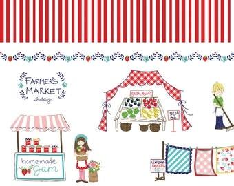 SALE Vintage Border RED - Vintage Market - Riley Blake Designs - 1/2 Yard
