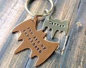 Daddy Keychain - Father's Day Gift - you are our superhero - you are my superhero