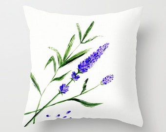 Lavender Throw Pillow Cover, lavender pillow cover, flower pillow cover, throw pillow cover, lavender pillow, floral pillow, purple pillow