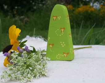Whimsical Spring Shrub // In Stock Ready to Ship // PegCorn Play Set // Wooden Waldorf Toy // Gnome Forest // Nature Table